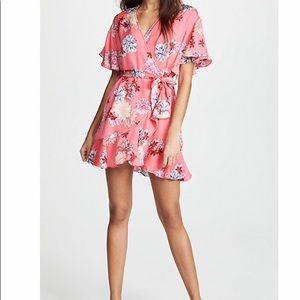 BB Dakota Bright Pink Floral Dress
